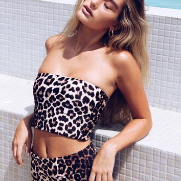 Sexy New Arrival Hot Swimsuit Beach Summer High Waist Swimwear Leopard Print Bikini [1934967439457]