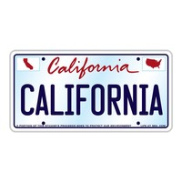 California License Plate Sticker