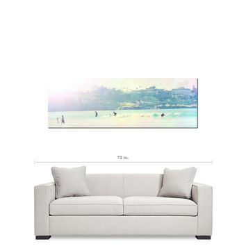Surfer Art - Surfing - Pastel Color - Rainbow Colors - Tall Canvas - California Canvas - Beach Canvas - Large Canvas - 20 x 60 Canvas