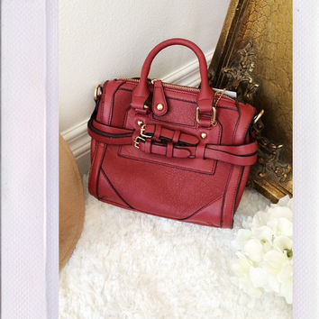Elba Mini Tote- Burgundy
