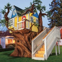Victorian Tree House or Playhouse with Artificial Tree