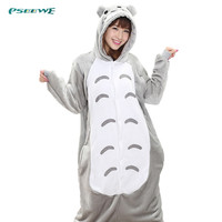 Totoro pajamas women Onesuits for adults Flannel Animal pajamas Totoro sleepwear femmei/mujer pijamas enteros de animales