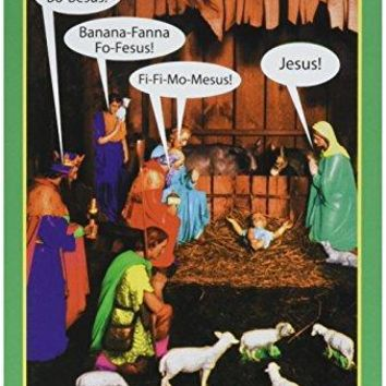Jesus-Bo-Besus Card - Funny Merry Christmas Greeting Card - Free Shipping