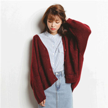 Autumn Women Cardigan Sweater Poncho Oversize Knitted Jumper Casual Tricot Wool Blend Shrug Knitting Vintage Sweater #Q47