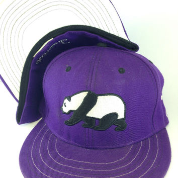 Grassroots California // Purple Panda Hat // Size 7
