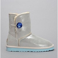 UGG Women Fashion Leather Rhinestone Snow Boots Shoes