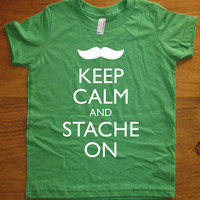 Mustache Shirt / Moustache Shirt Keep Calm and by redbrickwall