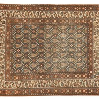 3.5x4 Antique Northwest Persian Square Rug