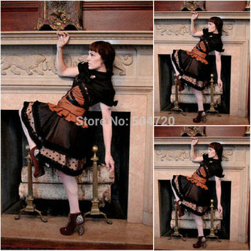 Freeshipping!R-763 Vintage Costumes 1860s Civil War Southern Belle Ball wedding Dress/Gothic Lolita Dress Victorian dresses