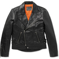McQ Alexander McQueen - Leather Biker Jacket | MR PORTER