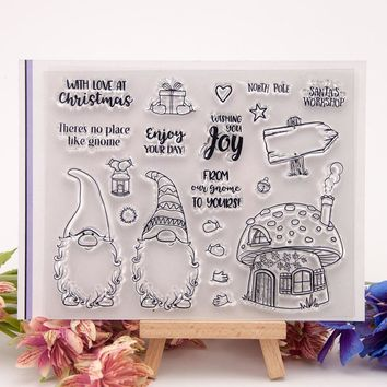 Clear Stamps Christmas Scrapbook Card album paper craft handmade silicon rubber roller transparent stamps