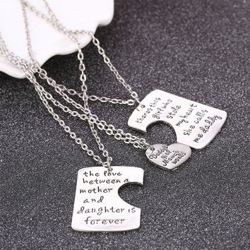 Father Mother Daughter Necklace