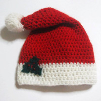 Christmas Hat Crochet Pattern All sizes by CrochetPatterns1