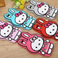 4.7 inch for Apple iPhone 6 3D Cartoon cute Jingle cats hello kitty cat silicone soft Case Cover For iPhone6 plus Free Shipping