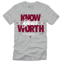 Retro Kings Clothing Know Your Worth Grey Toe Grey Tee