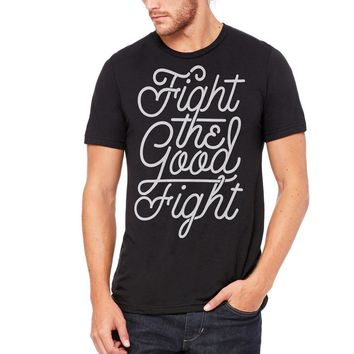 Fight the Good Fight Tri-Blend Graphic T-Shirt