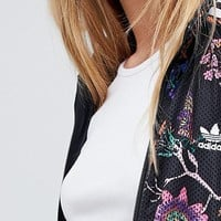 adidas Originals Floral Print Track Jacket at asos.com