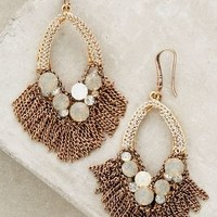 Sandbach Fringed Drops by Anthropologie Neutral Motif One Size Earrings