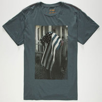 Rvca Miller Mens T-Shirt Slate Blue  In Sizes