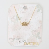 Altar'd State Own Kind of Beautiful Leaf Necklace | Altar'd State