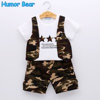 Summer Boys Suit Boys Clothing Sets Kids Clothing Sets Camouflage T-Shirt + Pant 2Pcs Suits Boys Clothes