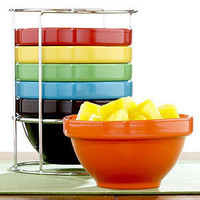 Multi-Color Stacking Bowl, Set of 6 | Serveware| Kitchen & Dining | World Market