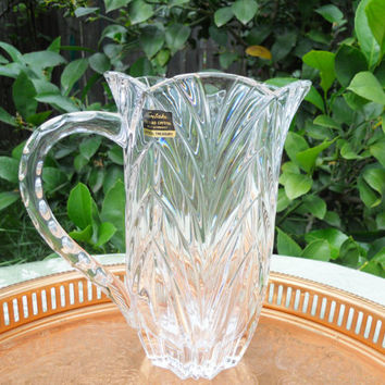 Noritake Crystal Pitcher West Germany Barware