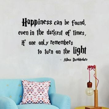 Harry Potter Quotes Wall Decal Vinyl Sticker Happiness Can Be Found Albus Dumbledore