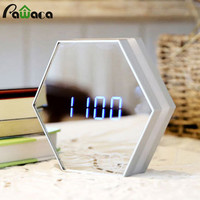 Multi-function Led Digital Alarm Clock Night Light Temperature Display Mirror Thermometer Touch Sensing Table Lamp Travel Clocks
