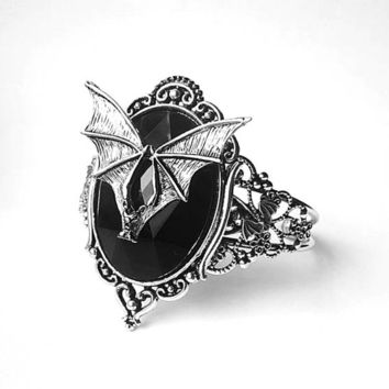 Gothic Bat Enchantress Bangle