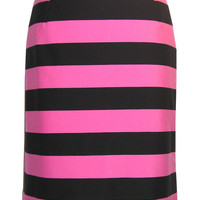 Vertical Stripe Printed Pencil Skirt