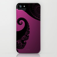 Pink and Black Fractal iPhone & iPod Case by Christy Leigh | Society6