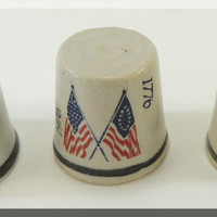 Three Vintage 1776-1976 Thimbles from DreamLand Specialties