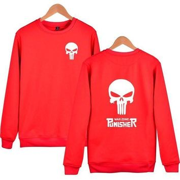 ESBQFN American drama Male Punisher Wei Yiwei clothes skull head casual personality trend fashion coat