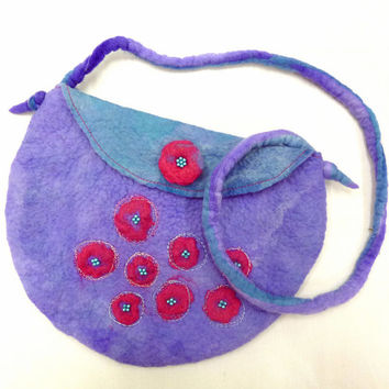 Purple Shoulder Bag- Unique Handbag- Australia