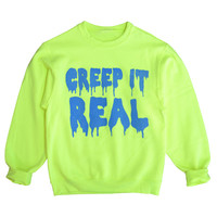 creep it real neon