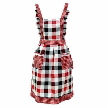 ICIK272 Women Lady Restaurant Home Kitchen Bib Cooking Aprons With Pocket  quality first