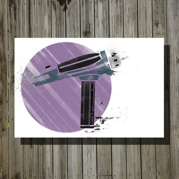 Star Trek Phaser print movie poster minimalist poster geek art print sci fi print