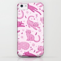Pink Playful Kittens iPhone & iPod Case by Noonday Design | Society6