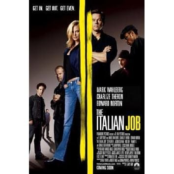 Italian Job The poster Metal Sign Wall Art 8in x 12in