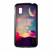 Perks Of A Wall Flower Quote Design Vintage Retro Nexus 4 Case