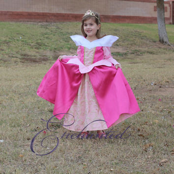 Aurora, the Sleeping Beauty Ballgown in blue or pink Deluxe Disney Princess Dress Size 3T costume