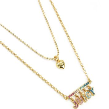 RAINBOW JUICY DOUBLE STRAND NECKLACE