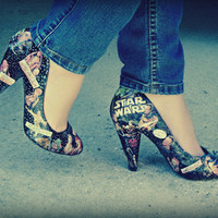 Decoupage Star Wars Comic Book Heels