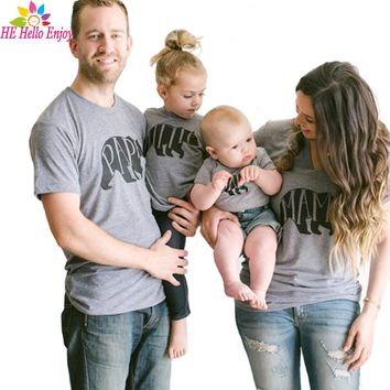 Mother father baby matching clothes t-shirt summer family look matching mom and me dad and baby family outfit