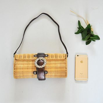 Special export retro rattan bag shoulder bag