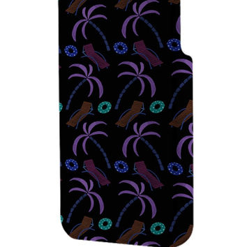 Best 3D Full Wrap Phone Case - Hard (PC) Cover with Hipster Palm Tree Summer Design