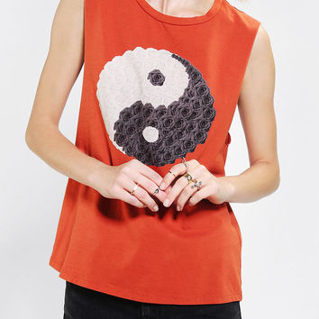 Morning Warrior Yin Yang Muscle Tee - Urban Outfitters