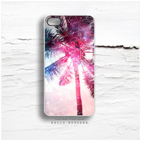iPhone 5C Case Palm Tree, iPhone 5s Case Pink Sky, iPhone 4 Case, iPhone 4s Case, Nebula iPhone Case, Coral Sunset TOUGH iPhone Cover T15