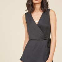 Chic Sophistication Sleeveless Top in Black